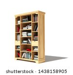 Bookshelf With A Book Isolated...