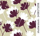 flowers seamless pattern. cute... | Shutterstock .eps vector #1438171058