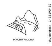 machu picchu  peru. travel and... | Shutterstock . vector #1438190492