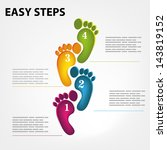 vector template for a easy step ... | Shutterstock .eps vector #143819152