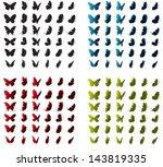 Stock vector vector butterflies 143819335