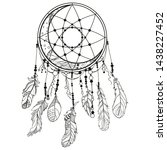 Dreamcatcher On White. Abstract ...