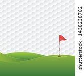 golf background. golf course... | Shutterstock .eps vector #1438238762