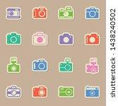 photo camera color sticker...