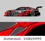 car wrap design concept. ... | Shutterstock .eps vector #1438254995