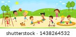 kids  boys and girls are... | Shutterstock .eps vector #1438264532