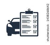 car maintenance list icon. car... | Shutterstock .eps vector #1438268642