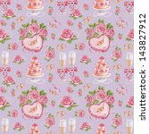 seamless pattern with... | Shutterstock . vector #143827912