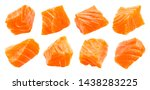 Salmon Slices Isolated On White ...