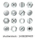 metal bolt heads. set of... | Shutterstock .eps vector #1438289405