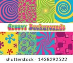 1960s psychedelic backgrounds ... | Shutterstock .eps vector #1438292522