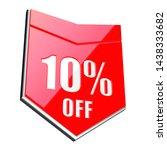 10 percent off red arrow   3d...   Shutterstock . vector #1438333682