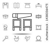 magic saw outline icon....