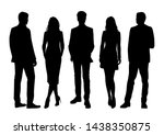 vector silhouettes of  men and... | Shutterstock .eps vector #1438350875