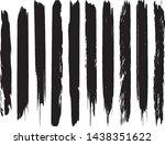 a set of vector grunge brushes. ... | Shutterstock .eps vector #1438351622