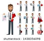 business man cartoon character  ... | Shutterstock .eps vector #1438356098