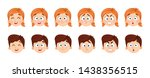 face expressions of boy and... | Shutterstock .eps vector #1438356515