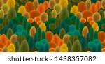 abstract seamless pattern with... | Shutterstock .eps vector #1438357082