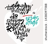 handwritten font. script. latin ... | Shutterstock .eps vector #1438397588