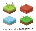 soil layers vector isometric 3d ...