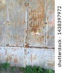 gray worn rusty metal texture....   Shutterstock . vector #1438397972
