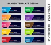 set of modern banners... | Shutterstock .eps vector #1438398335
