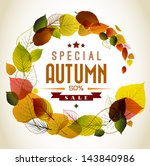 autumn abstract floral... | Shutterstock .eps vector #143840986