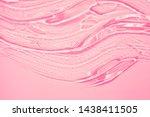 Liquid gel cosmetic smudge pink