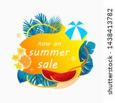 summer sale poster banner with... | Shutterstock .eps vector #1438413782