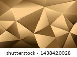 abstract gold polygonal and... | Shutterstock .eps vector #1438420028