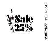 sale 25   beautiful greeting... | Shutterstock .eps vector #1438424738