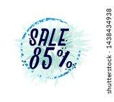 sale 85   beautiful greeting... | Shutterstock .eps vector #1438434938
