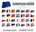 european union flag   eu   and... | Shutterstock .eps vector #1438471445