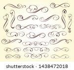 set elegant design elements for ... | Shutterstock .eps vector #1438472018
