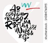 handwritten font. script. latin ... | Shutterstock .eps vector #1438476095