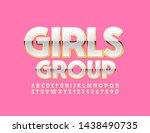 vector glamour sign girls group ... | Shutterstock .eps vector #1438490735