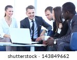 business meeting in an office   Shutterstock . vector #143849662