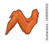 illustration of chicken wings... | Shutterstock .eps vector #1438503422