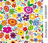 vector seamless floral... | Shutterstock .eps vector #14385049
