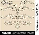 vector set of calligraphic... | Shutterstock .eps vector #143850976