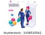success partnership successful... | Shutterstock .eps vector #1438510562