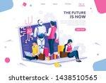 human interactive tech... | Shutterstock .eps vector #1438510565