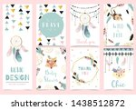 collection of boho cards set... | Shutterstock .eps vector #1438512872