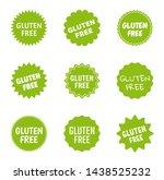 gluten free icon set  healthy... | Shutterstock .eps vector #1438525232
