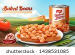 baked beans ads with delicious... | Shutterstock .eps vector #1438531085
