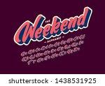 vector of stylized modern font... | Shutterstock .eps vector #1438531925