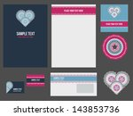 corporate identity for company... | Shutterstock .eps vector #143853736