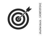 the arrow presses the target... | Shutterstock .eps vector #1438539242