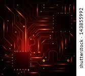 vector technology background... | Shutterstock .eps vector #143855992