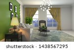 interior of the living room. 3d ... | Shutterstock . vector #1438567295